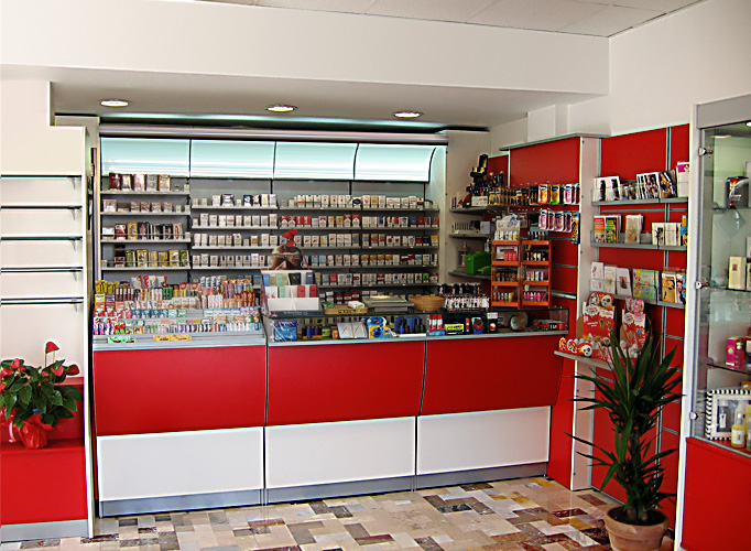 arredamenti per tabaccherie - tekna design - Arredamento Moderno Tabaccheria